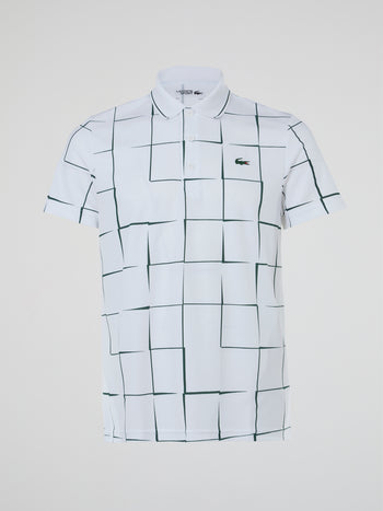 White Check Polo Shirt