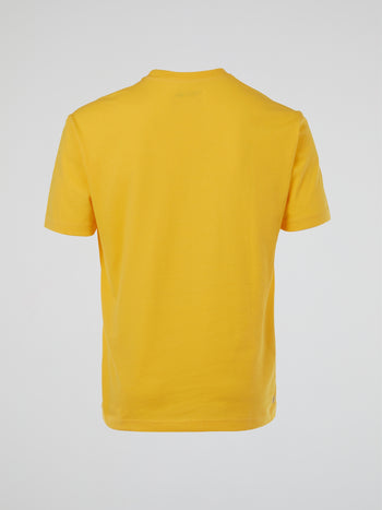 Yellow Logo Round Neck T-Shirt