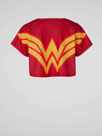 Wonder Woman Red Baseball Jersey