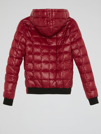 Red Reversible Quilted Jacket