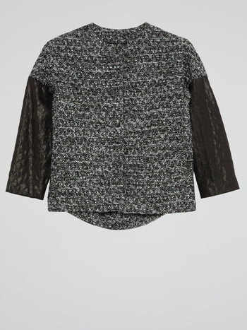 Black Tweed Top