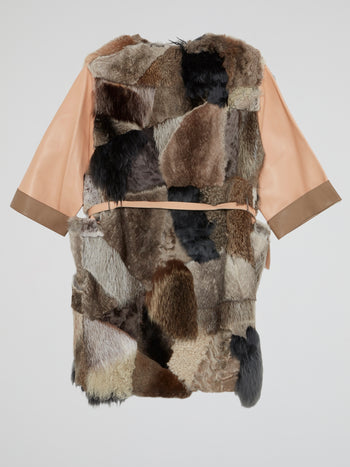 Patchwork Fur Trench Coat