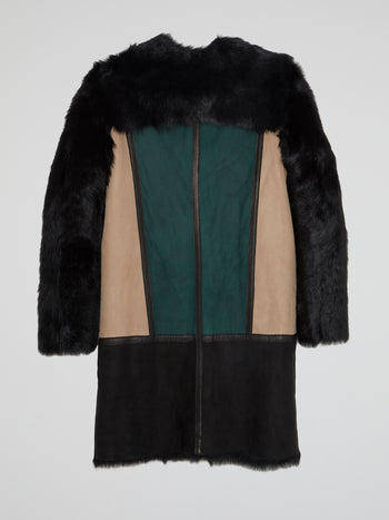 Fur Panel Trench Coat