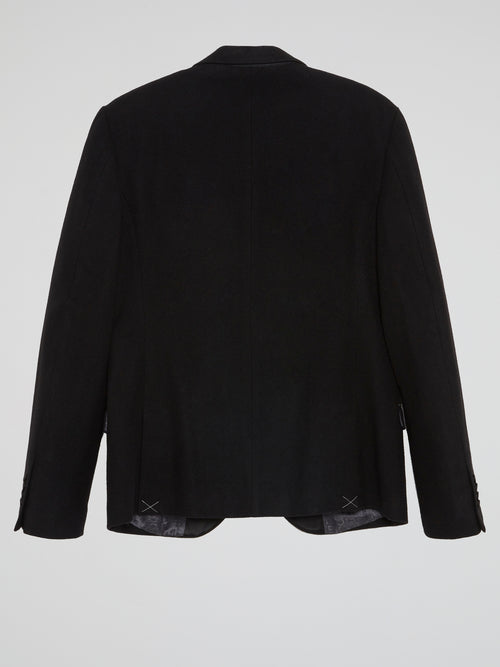 Black Stuctured Suit Jacket