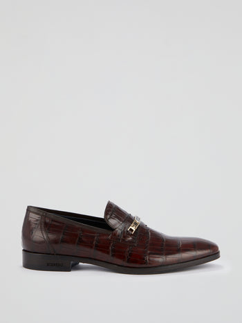 Reptilian Leather Loafers