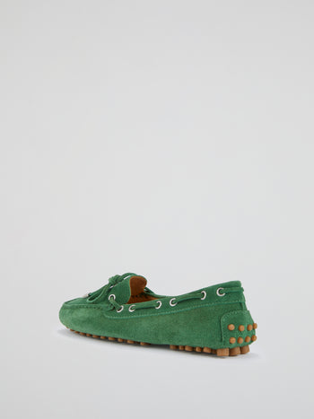 Green Suede Loafers