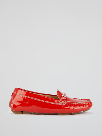 Red Patent Leather Loafers