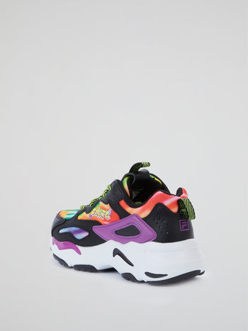 B Hype x Fila Ray Tracer High-Top Tie-Dye Sneakers