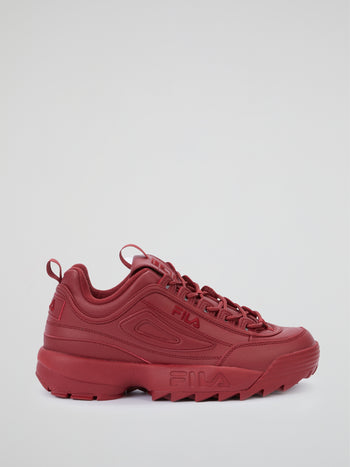 Red Disruptor II Premium Sneakers