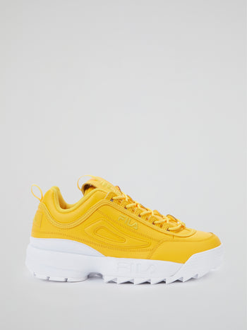 Yellow Disruptor II Premium Sneakers