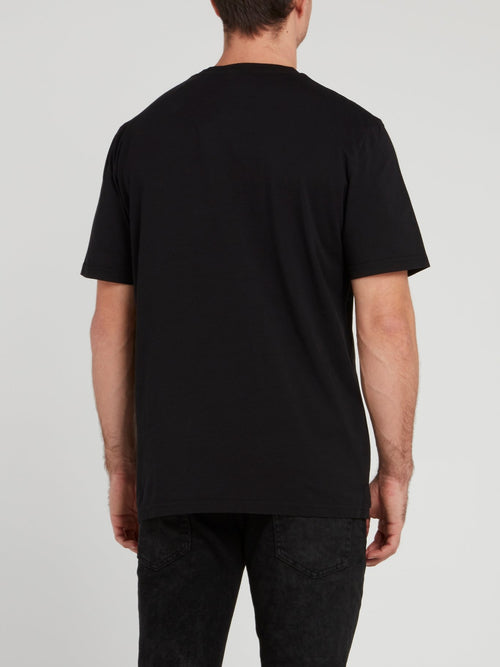 Black Sketch Printed T-Shirt