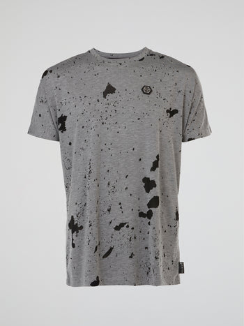 Grey Rear Skull T-Shirt