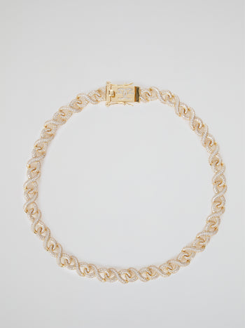 "Gold Diamond Infinity Chain (18"" 12mm)"