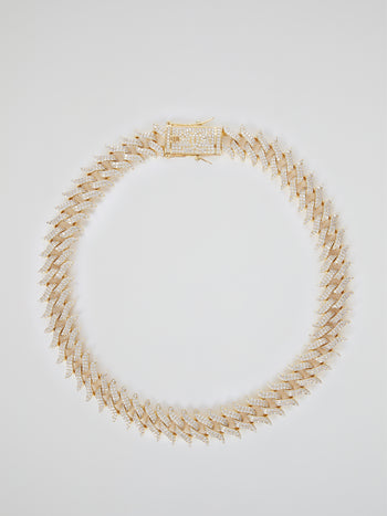 "Diamond Spiked Laurel Cuban Chain (18"" 18mm)"