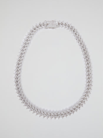 "Diamond Spiked Cuban Chain (22"" 18mm)"
