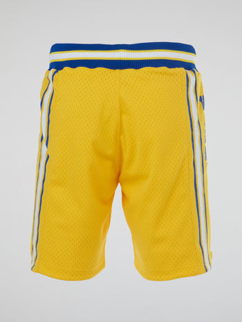 NBA Yellow Authentic Basketball Shorts
