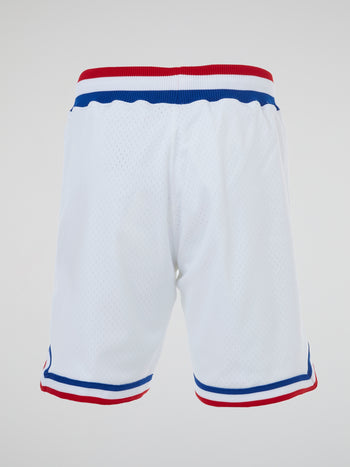 NBA White Authentic Basketball Shorts