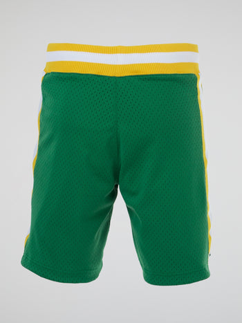 NBA Green Authentic Basketball Shorts