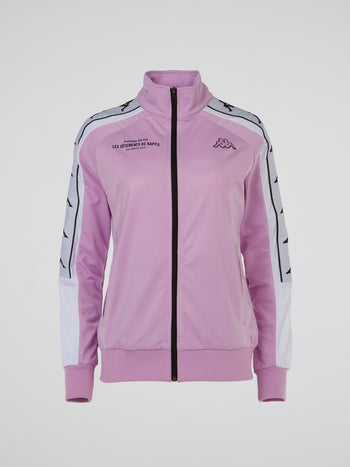 Pink High Neck Track Jacket