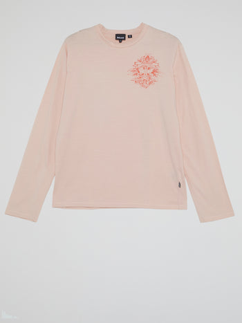 Pink Crewneck Long Sleeve Top