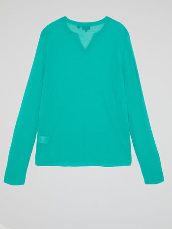 Turquoise Long Sleeve Top