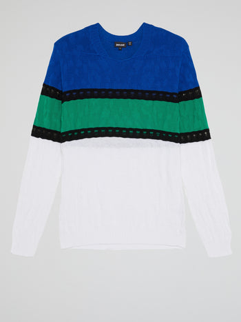Colour Block Knitted Top