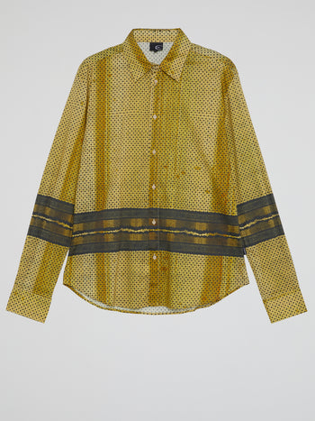 Gold Pattern Print Shirt
