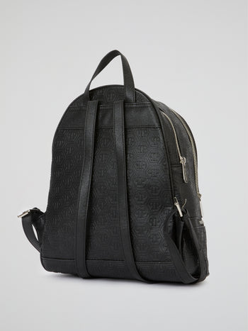 Black Crystal Monogram Backpack