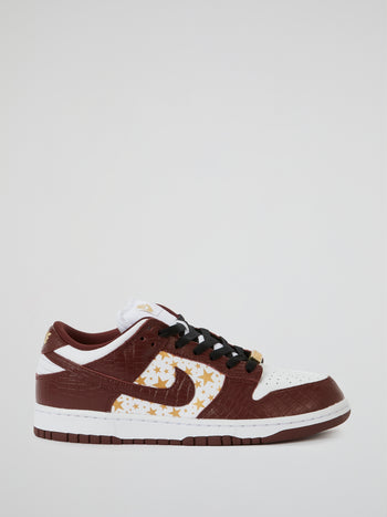 Supreme x Nike Brown SB Dunk Low QS Sneakers