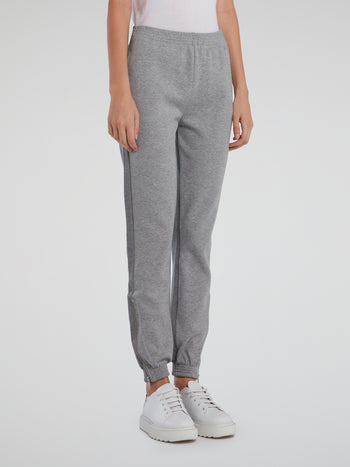 Grey Cuffed Track Pants