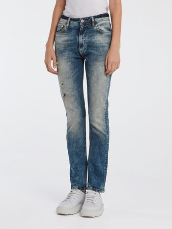 Blue Acid Wash Jeans