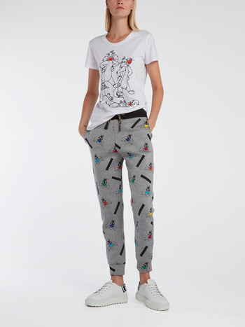 Grey Sylvester the Cat Track Pants