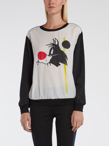 Colour Block Sylvester The Cat Top