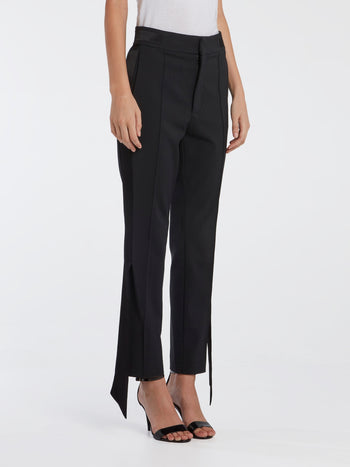 Black Skinny Tux Pants