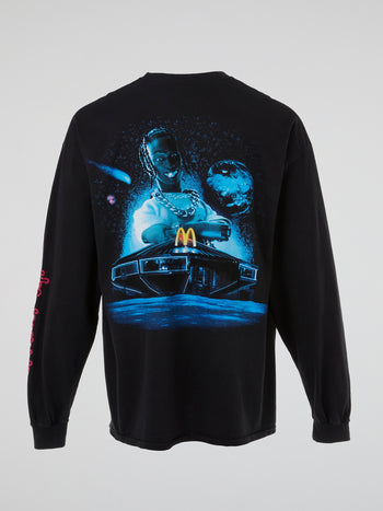 Travis Scott x McDonald's Action Figure Space L/S T-Shirt