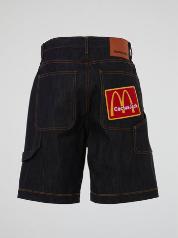 Travis Scott x McDonald's Cj Arches Denim Shorts