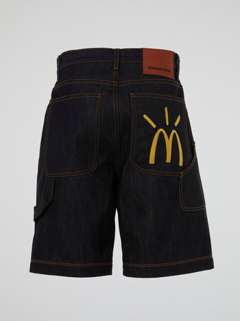 Travis Scott x McDonald's Cactus Arches Denim Shorts