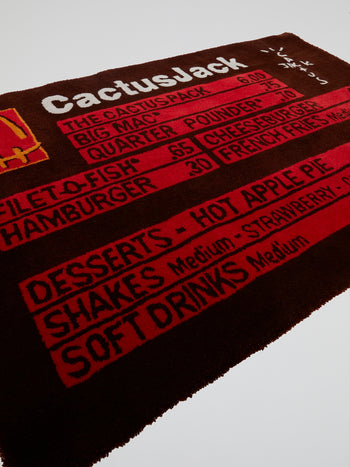 Travis Scott x McDonald's CJ Menu Rug