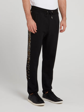 Black Side Studded Pants