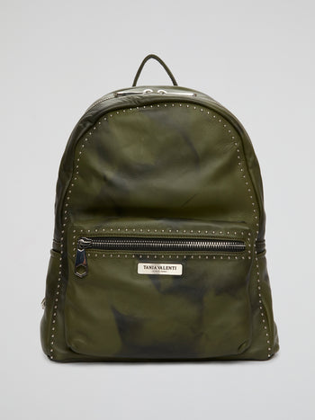 Double Tone Green Calfskin Backpack