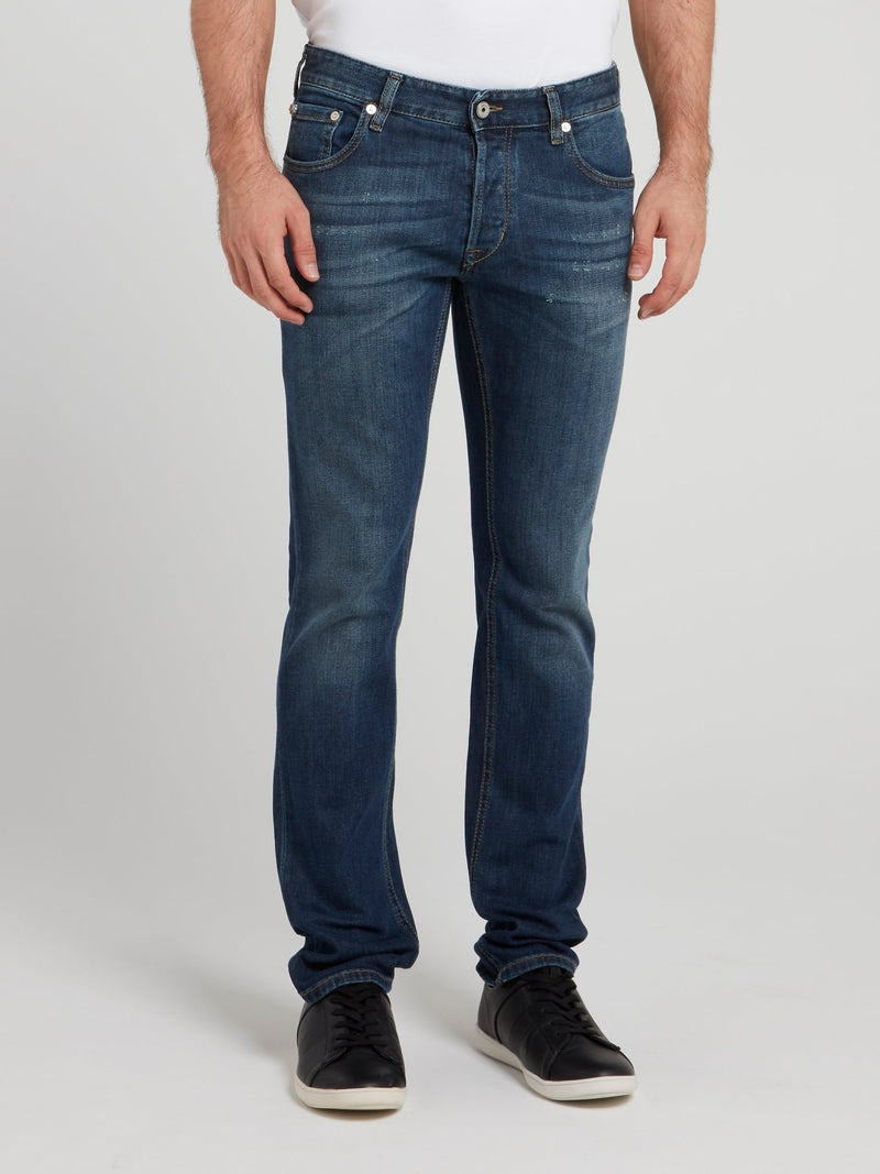 Navy Dark Wash Denim Jeans