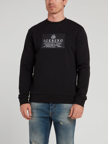 Black Logo Patch Sweatshirt