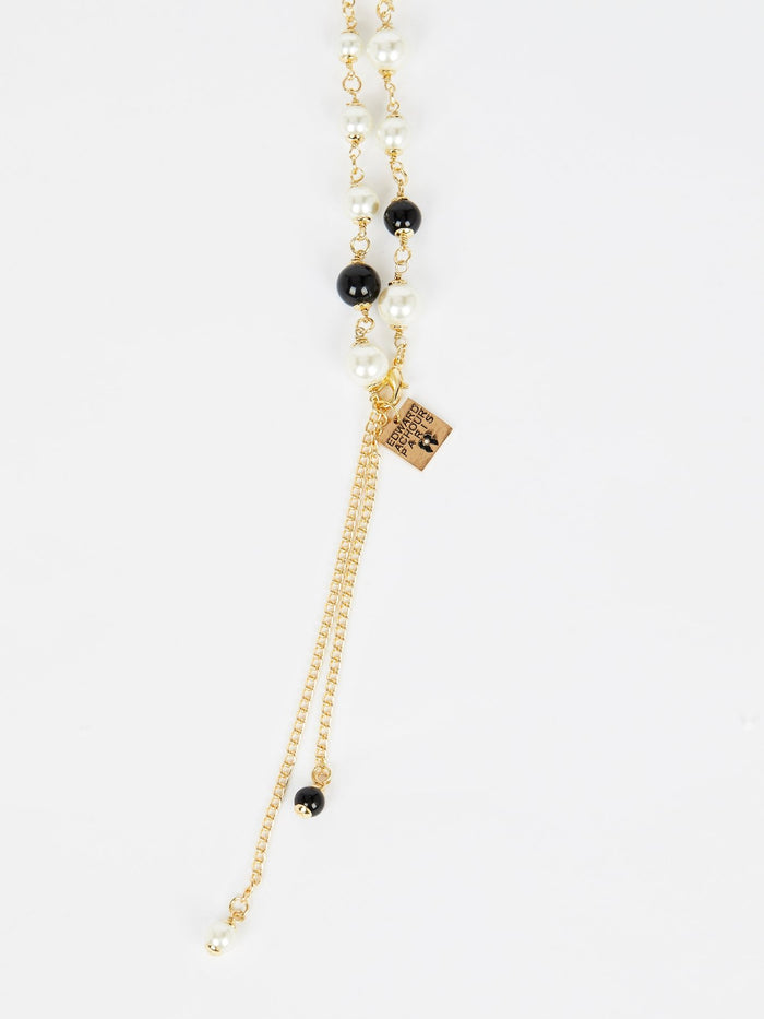 Black Pearl Chain Necklace
