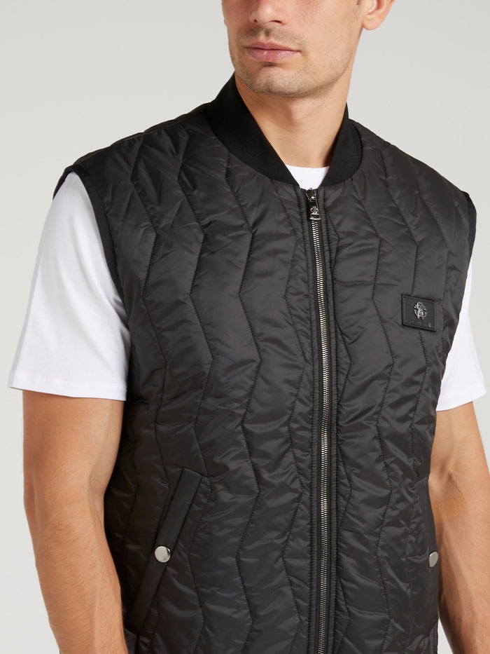 Black Quilt Down Jacket