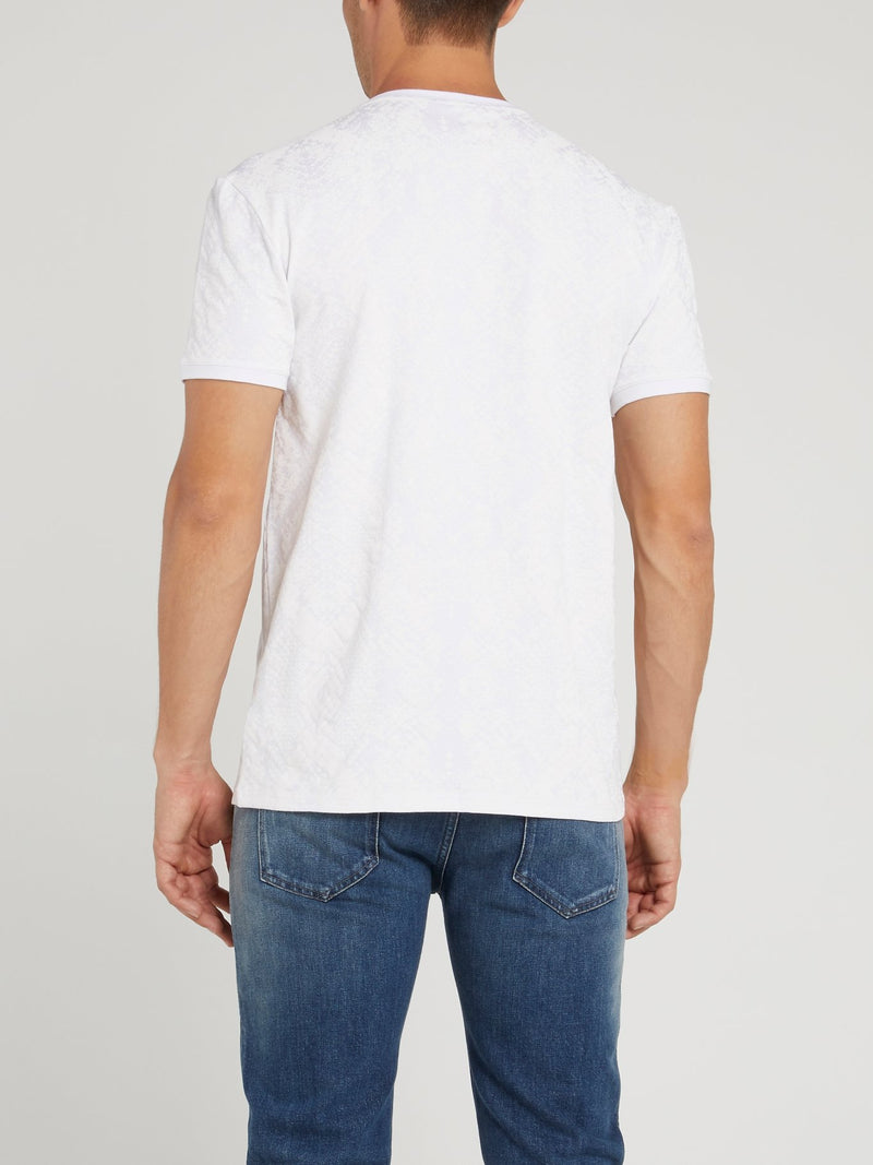 White V-Neck Logo T-Shirt