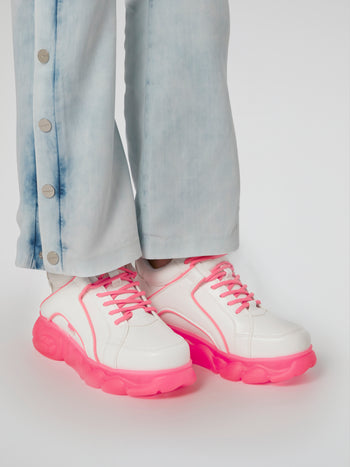 CLD Corin Pink Sole Leather Sneakers