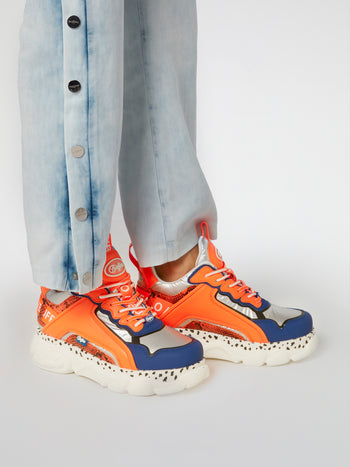 CLD Chai Orange Leather Sneakers
