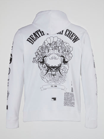 White Death Touch Crew Hoodie