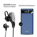 Clickcases Sports JOGGER Wireless Bluetooth Headset With Free 32000mAh Power Bank