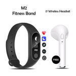 Mi Plus M2 Smart Band With i7 Wireless Bluetooth Headset Free
